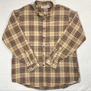Vintage USA Made LL BEAN Northwoods Flannel Plaid